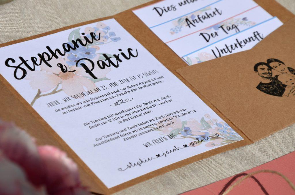 Hochzeit vorlage word einladung Kirchenheft Hochzeit