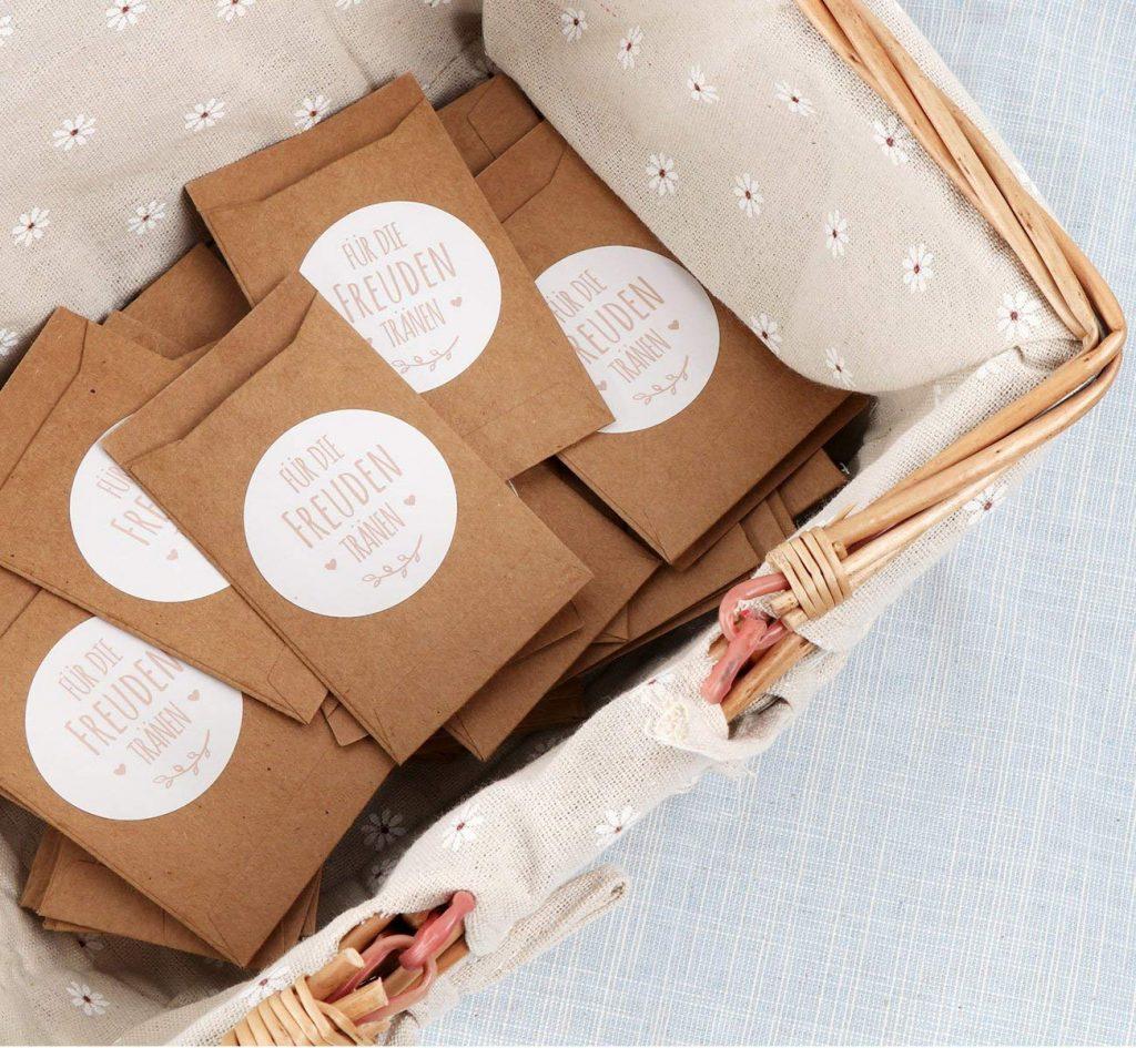 7 Diy Gastgeschenkideen Für Die Hochzeit Myprintcard: Die 7 BESTEN Ideen Für Freudentränen Taschentücher