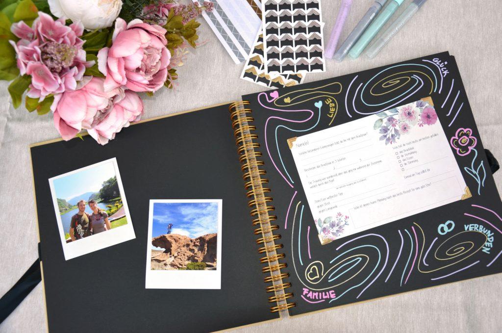 Ein besonderes Hochzeits-Gästebuch mit Fragen zum Ausfüllen
