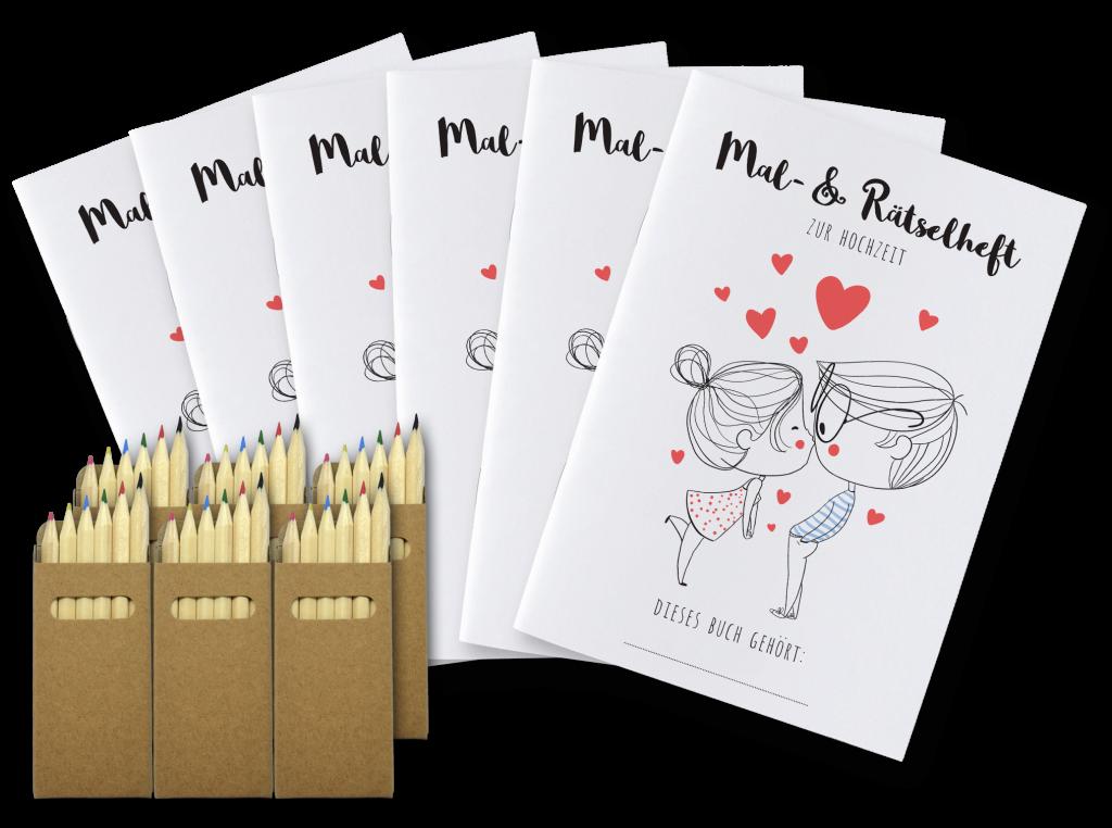 Malbücher für Kinder auf der Hochzeit