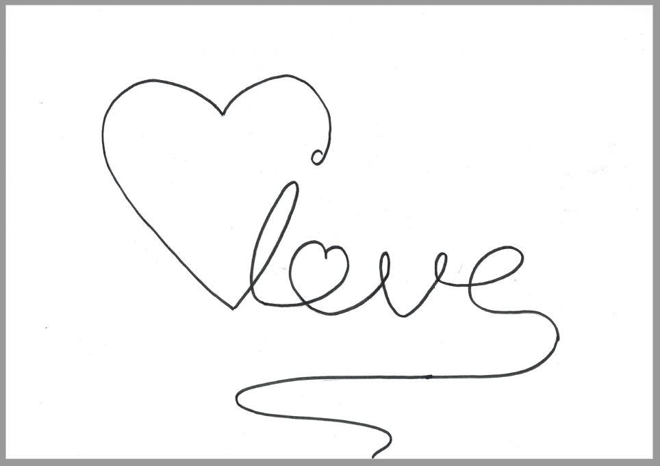 """Vorlage """"Love"""" zum Ausdrucken"""