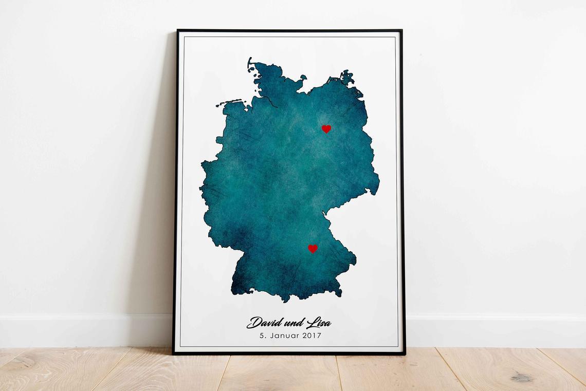 """Poster """"Liebeskarte Deutschland"""""""