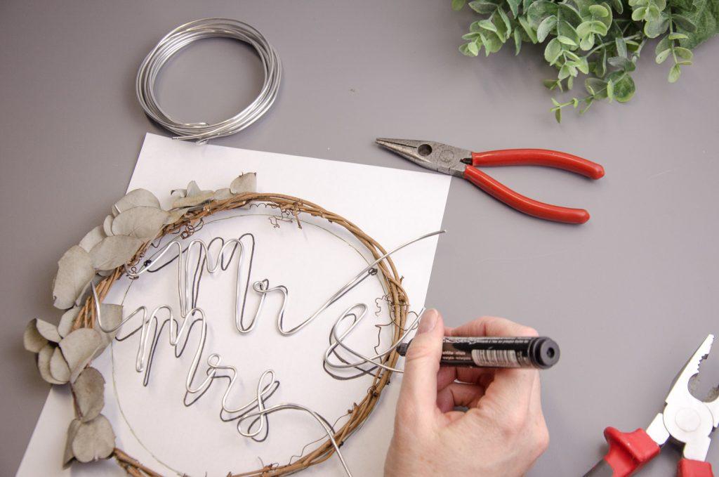 Markieren der Verankerungspunkte am Ring mit Eding