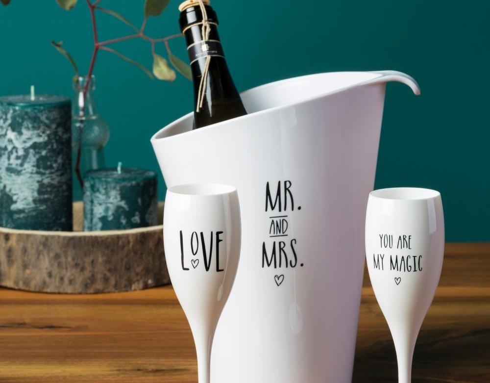 Statement Gläser mit Flaschenkühler als Geschenk für Verliebte